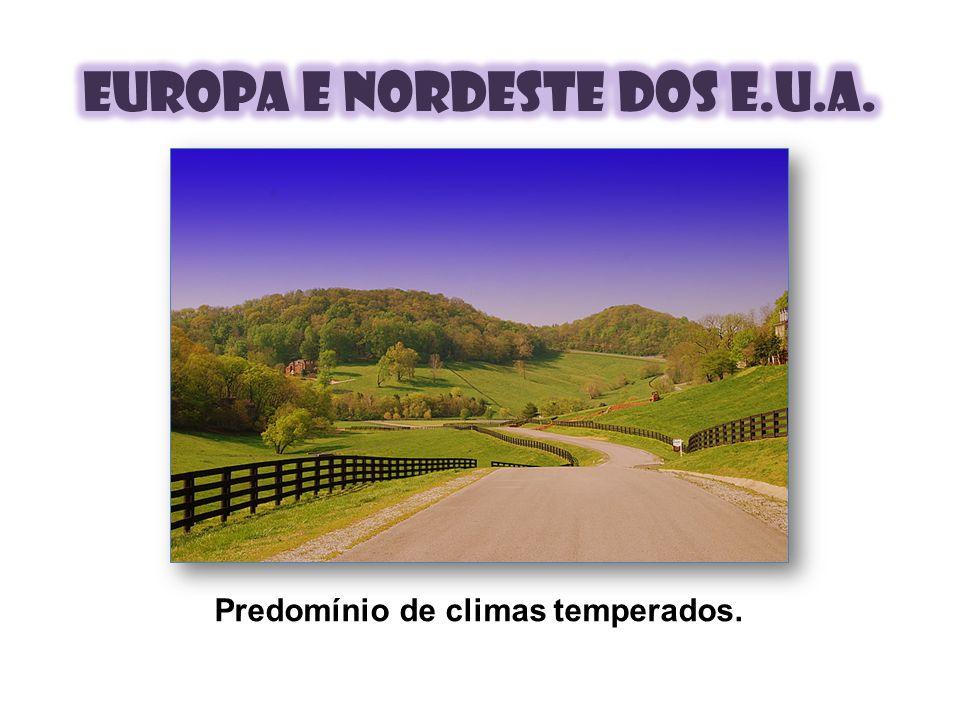 Predomínio de climas temperados.