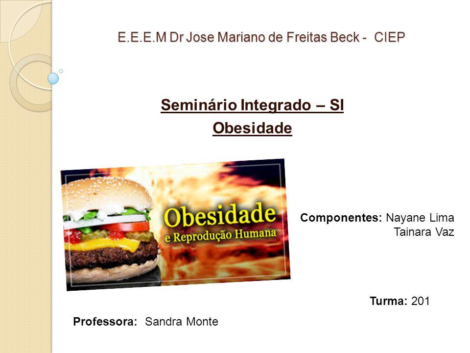E.E.E.M Dr Jose Mariano de Freitas Beck - CIEP Seminário Integrado – SI Obesidade Componentes: Nayane Lima Tainara Vaz Professora: Sandra Monte Turma: