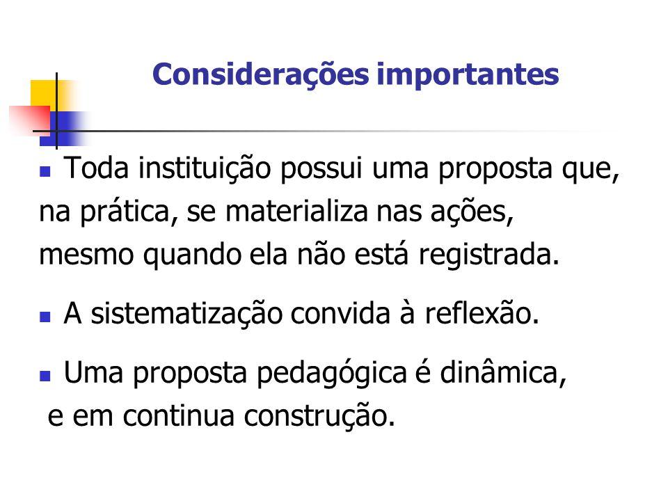 Sujeitos envolvidos na elaboração, implementação e avaliação da Proposta Pedagógica Adultos responsáveis – papéis diferenciados (família, professores, direção, coordenação, funcionários).