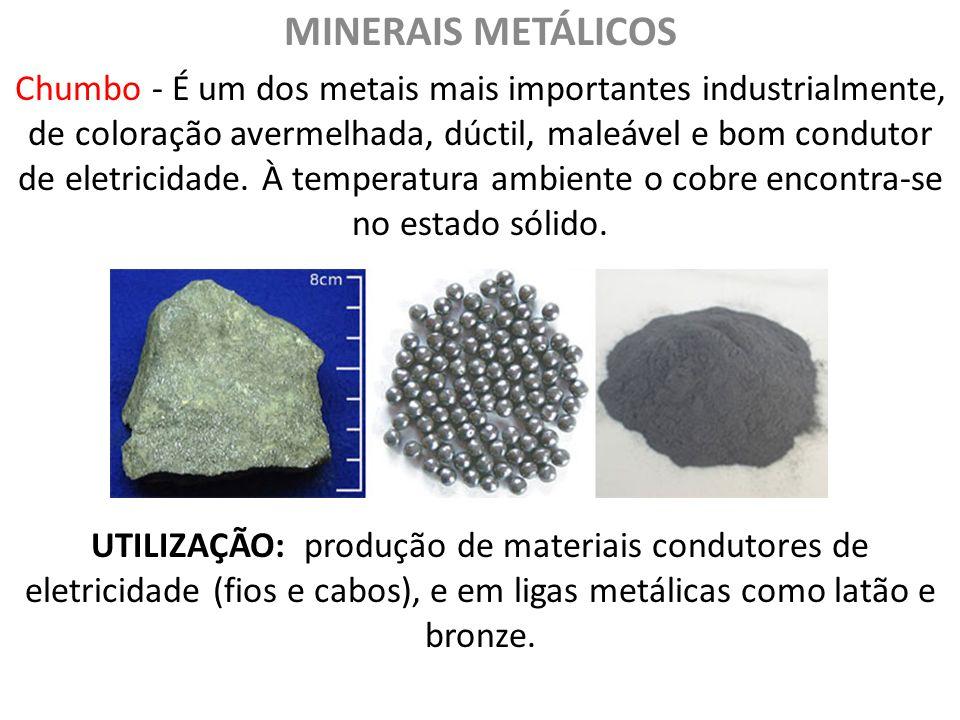 Resultado de imagem para grupo dos minerais metálicos