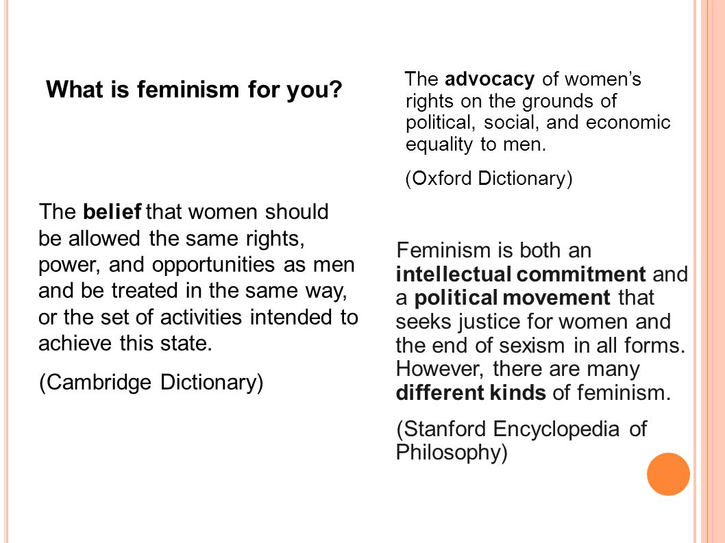 the definition of feminism as a powerful social movement