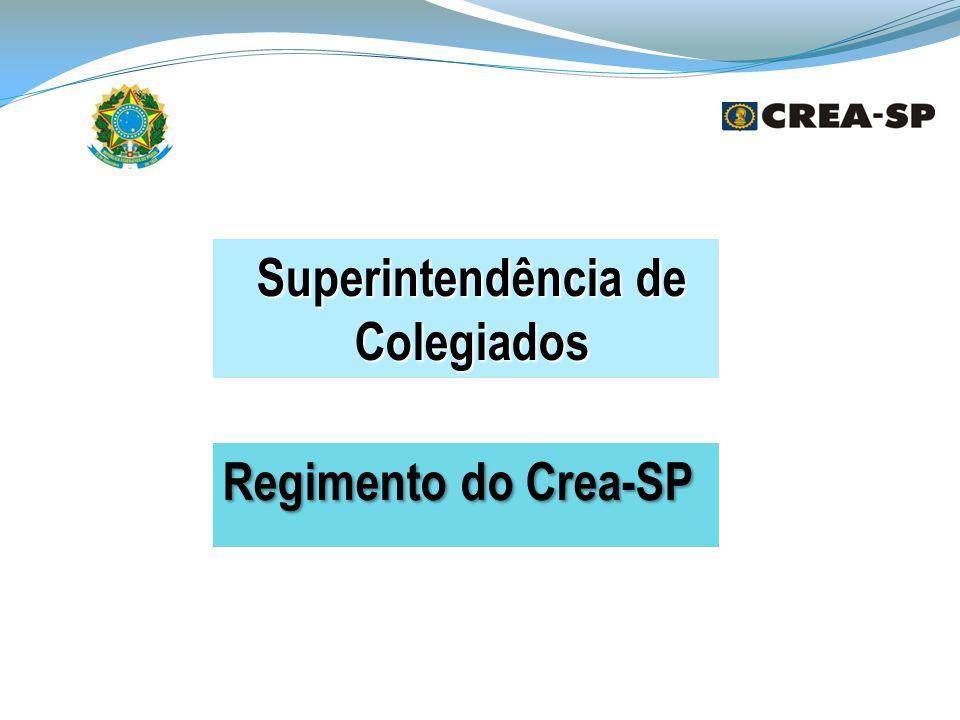 Superintendência de Colegiados Regimento do Crea-SP
