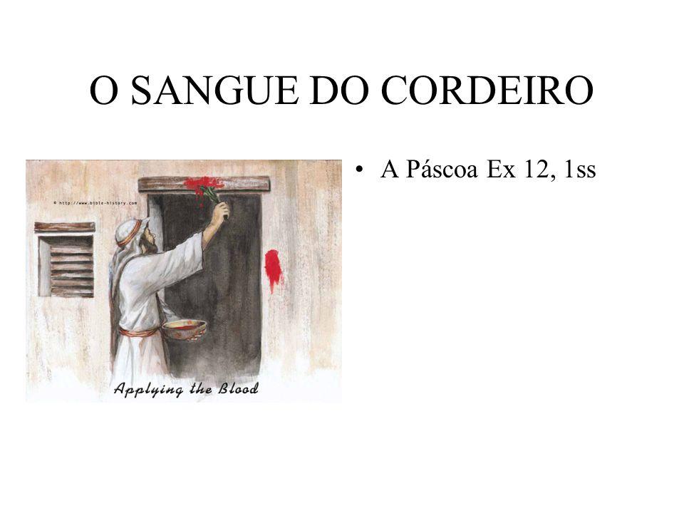O SANGUE DO CORDEIRO A Páscoa Ex 12, 1ss