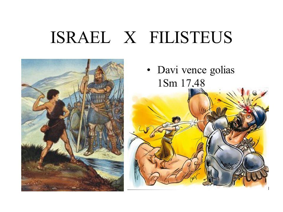 ISRAEL X FILISTEUS Davi vence golias 1Sm 17,48