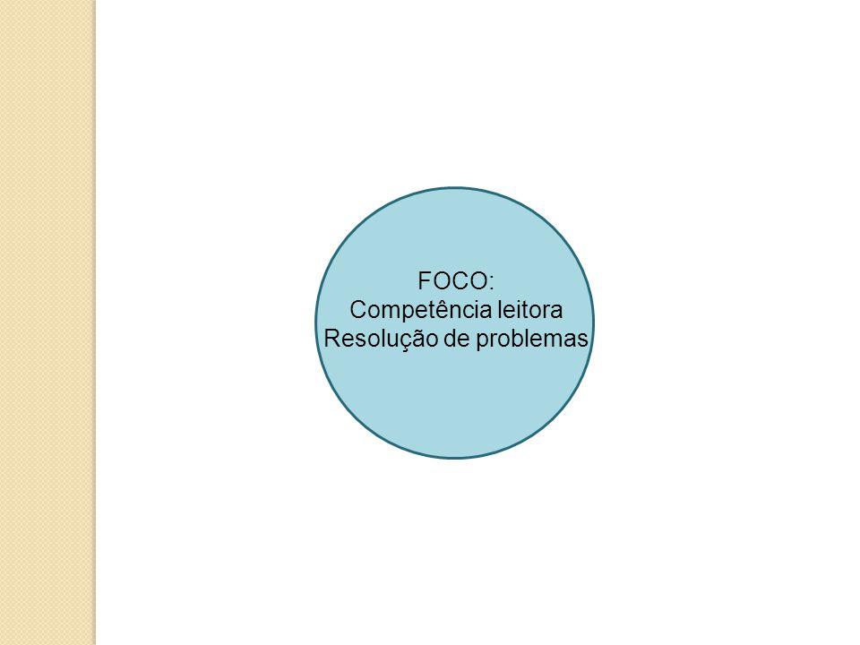 FOCO: Competência leitora Resolução de problemas