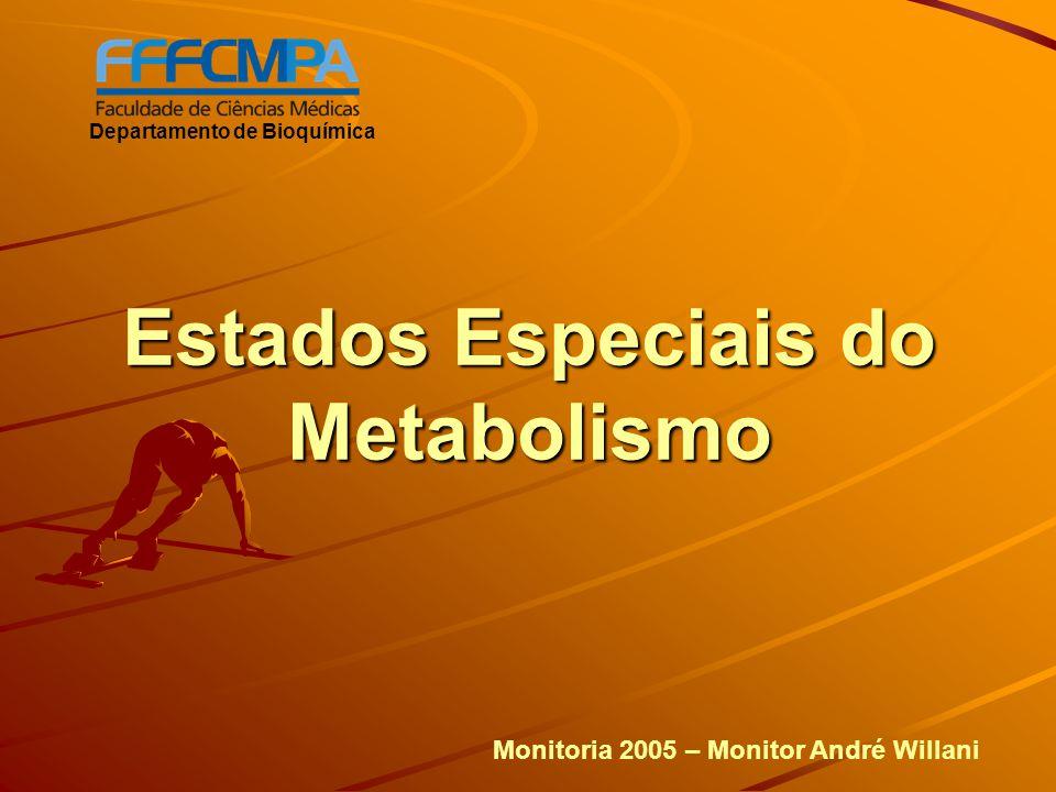 Estados Especiais do Metabolismo Departamento de Bioquímica Monitoria 2005 – Monitor André Willani