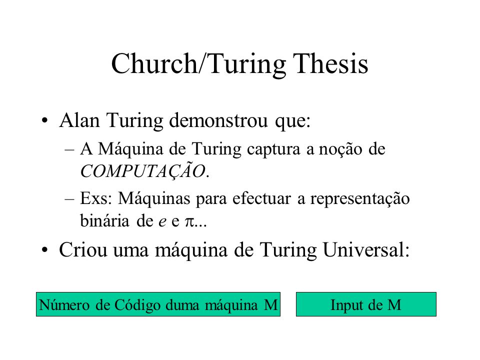 extended church turing thesis