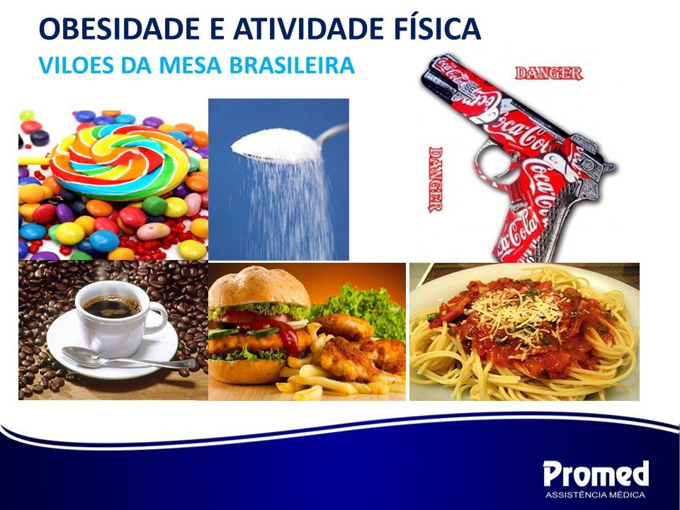 OBESIDADE E ATIVIDADE FÍSICA VILOES DA MESA BRASILEIRA