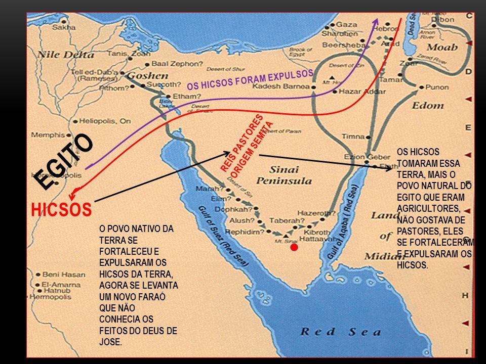 OS HICSOS TOMARAM ESSA TERRA, MAIS O POVO NATURAL DO EGITO QUE ERAM AGRICULTORES, NÃO GOSTAVA DE PASTORES, ELES SE FORTALECERAM E EXPULSARAM OS HICSOS.