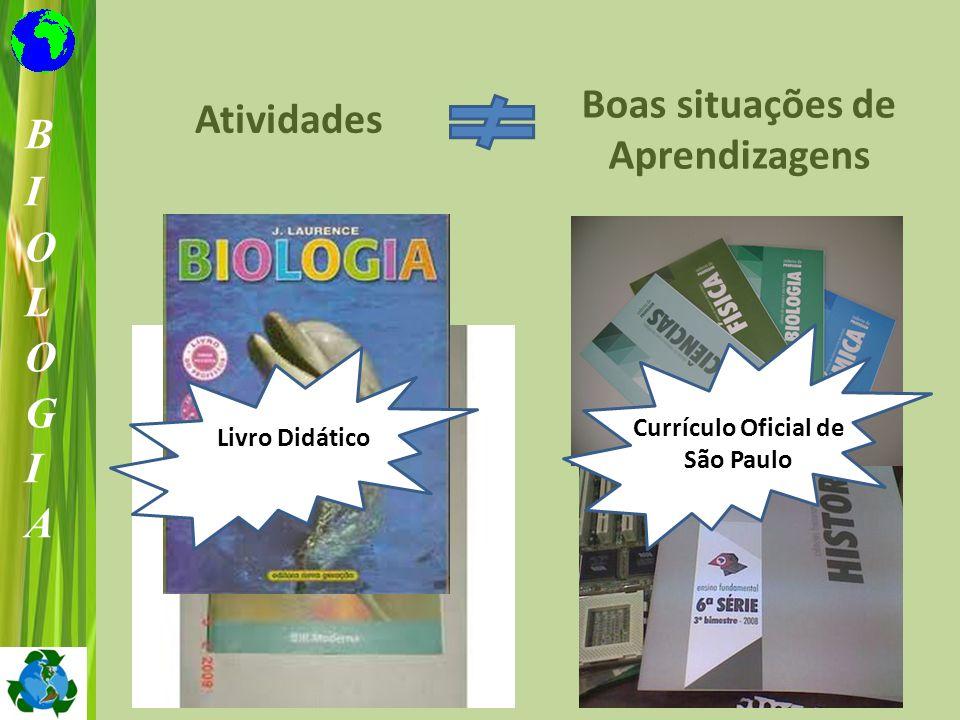 Atividades Boas situações de Aprendizagens Livro Didático Currículo Oficial de São Paulo