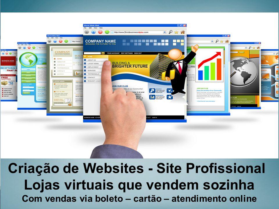 Criação de Websites - Site Profissional Lojas virtuais que vendem sozinha Com vendas via boleto – cartão – atendimento online