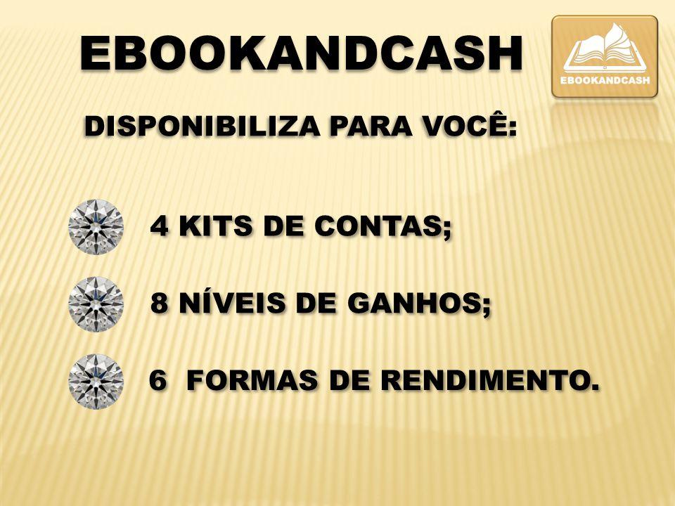 4 KITS DE CONTAS; 8 NÍVEIS DE GANH0S; Obs. Manutenção mensal de R$ 50 reais em todos os kits.