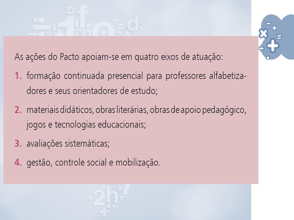 Da mesma forma que o PNAIC de Língua Portuguesa, o curso de Alfabetização Matemática está organizado em oito unidades (cadernos), totalizando 80 horas, além do seminário de encerramento de 8 horas.