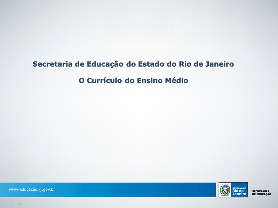 O currículo mínimo foi uma das principais ações desenvolvidas pela Secretaria de Estado de Educação no início do ano letivo de 2011, marcado pelo começo da implantação do novo Programa de Educação do Estado.