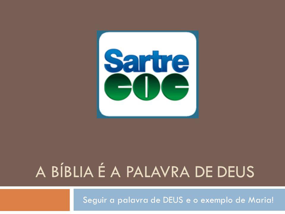 Seguir a palavra de DEUS e o exemplo de Maria! A BÍBLIA É A PALAVRA DE DEUS