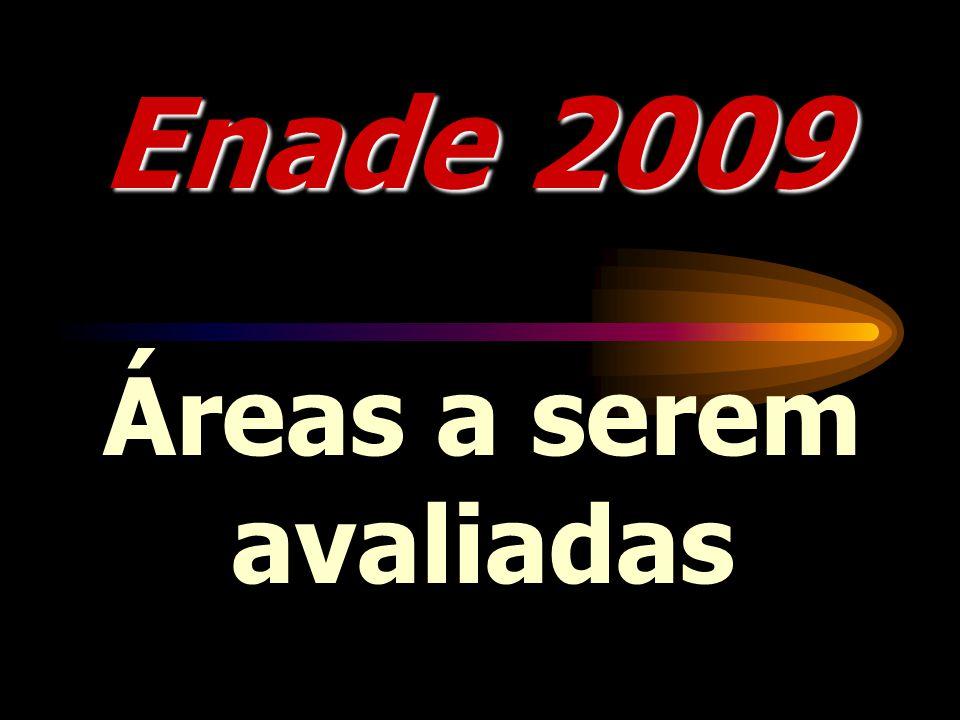 Enade 2009 Áreas a serem avaliadas