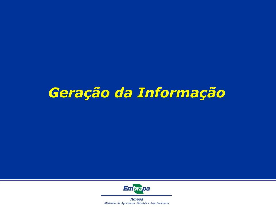 Geração da Informação