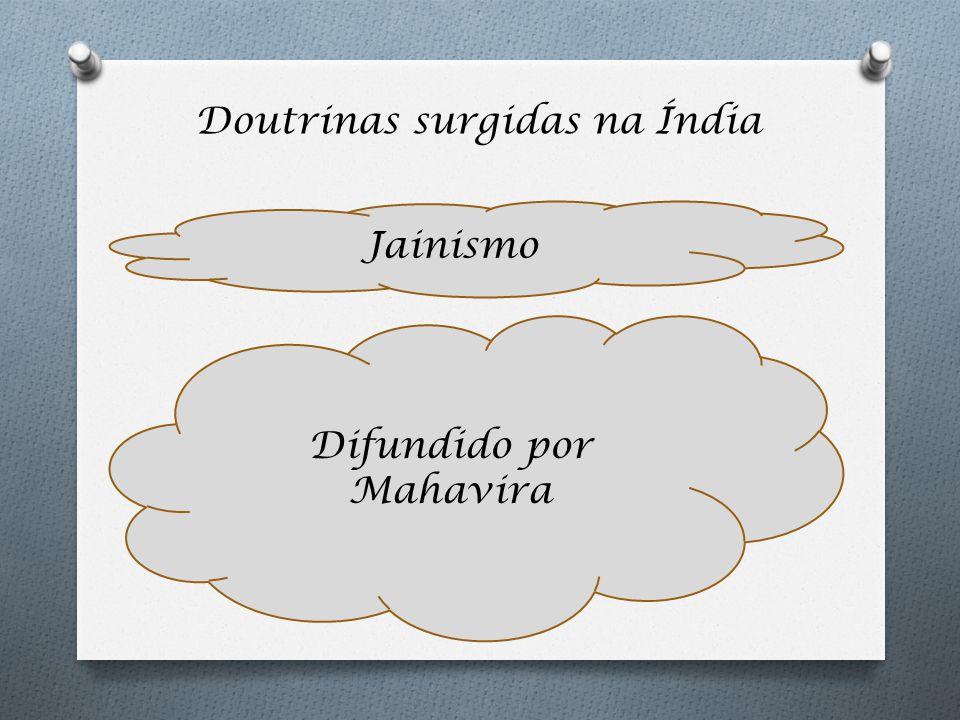 Doutrinas surgidas na Índia Jainismo Difundido por Mahavira