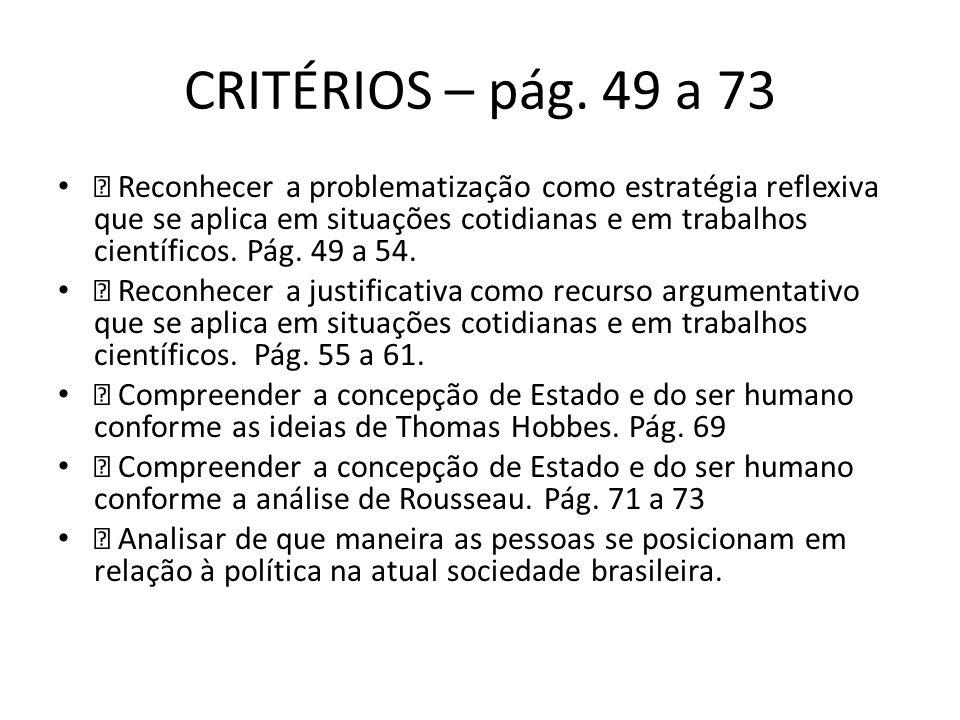 CRITÉRIOS – pág.