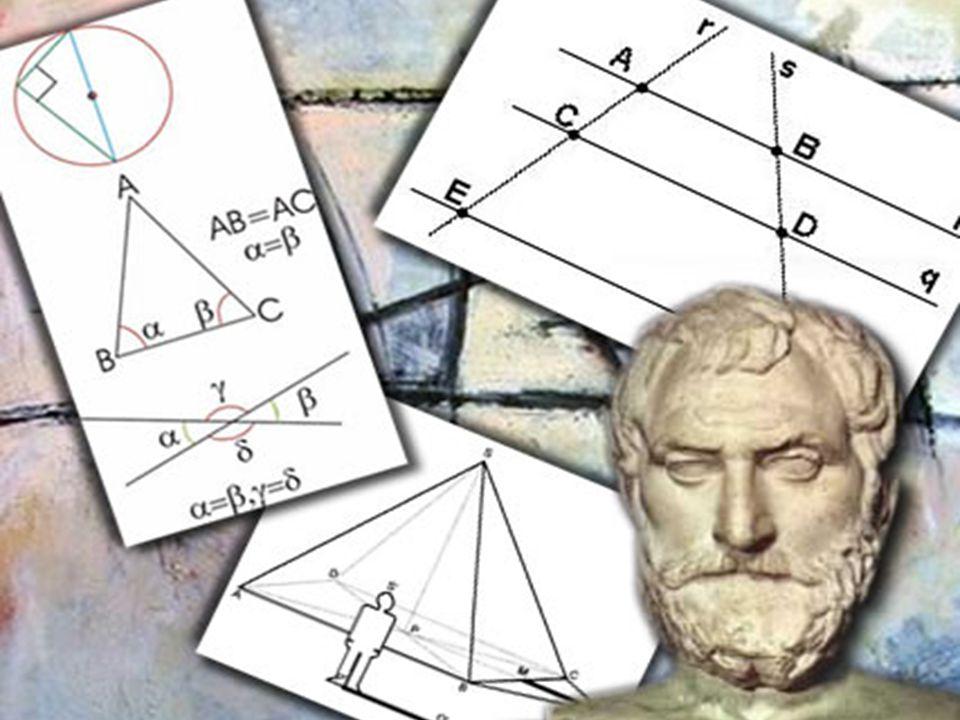 Calculo da altura da Pirâmide de Quéops Tales foi desafiado a medir a altura da grande pirâmide de Quéops.