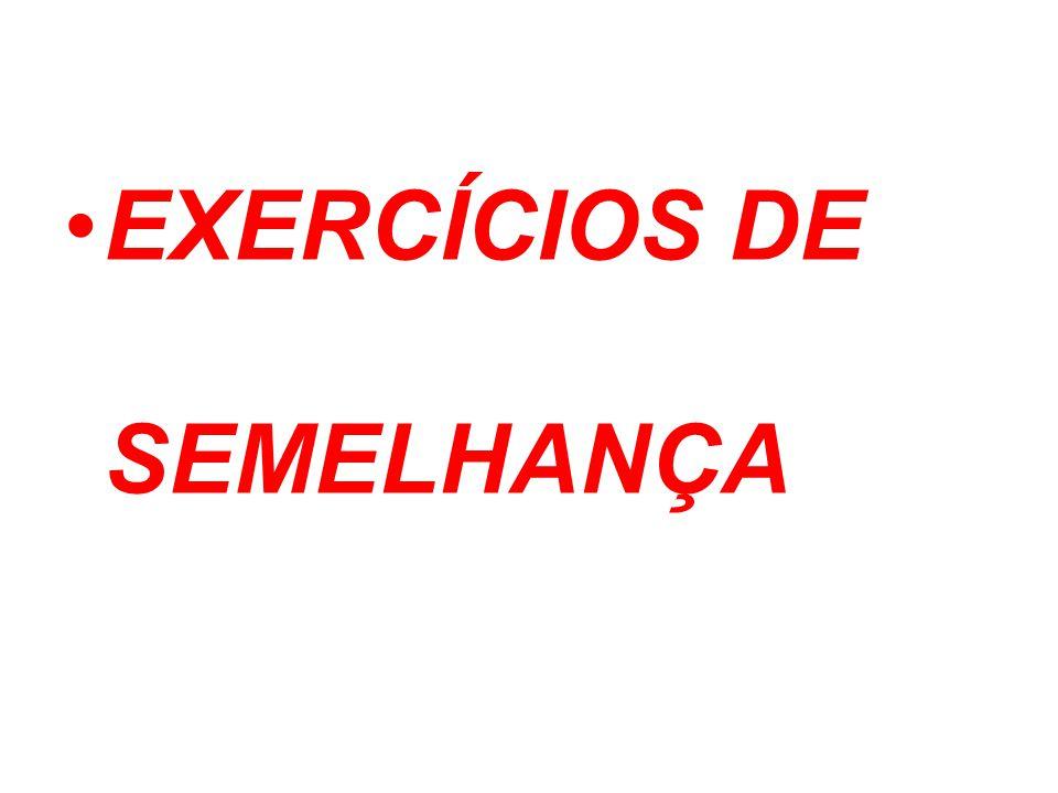 EXERCÍCIOS DE SEMELHANÇA