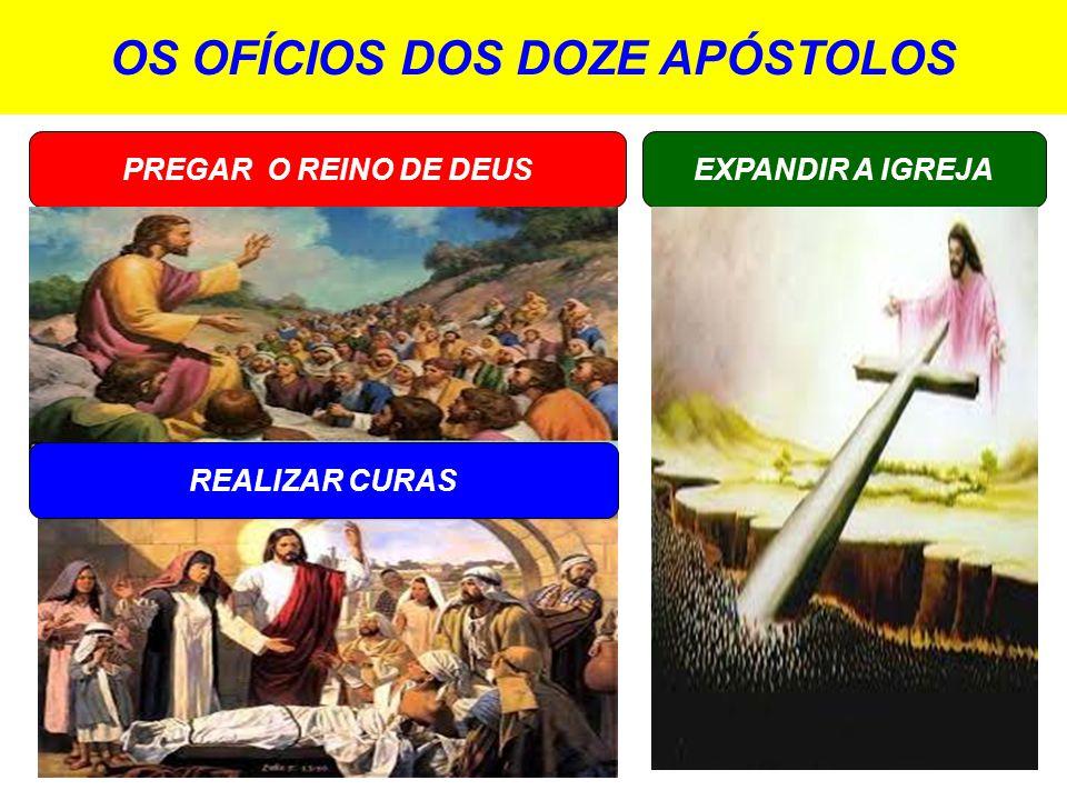 OS OFÍCIOS DOS DOZE APÓSTOLOS PREGAR O REINO DE DEUS EXPANDIR A IGREJA REALIZAR CURAS
