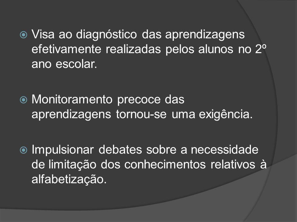  Provinha Brasil pode servir como subsídio para definição de políticas de formação de professores e políticas de seleção de recursos didáticos.