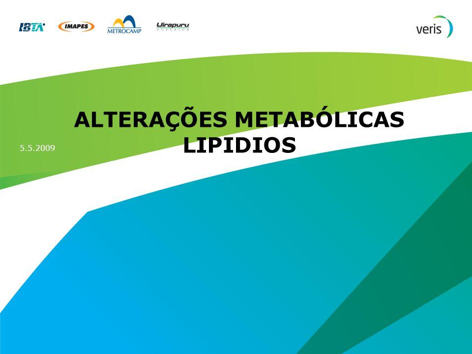 Título da apresentação 2 Alterações Metabólicas Lipídios Arteriosclerose e Aterosclerose Esteatose Hipercolesterolemia