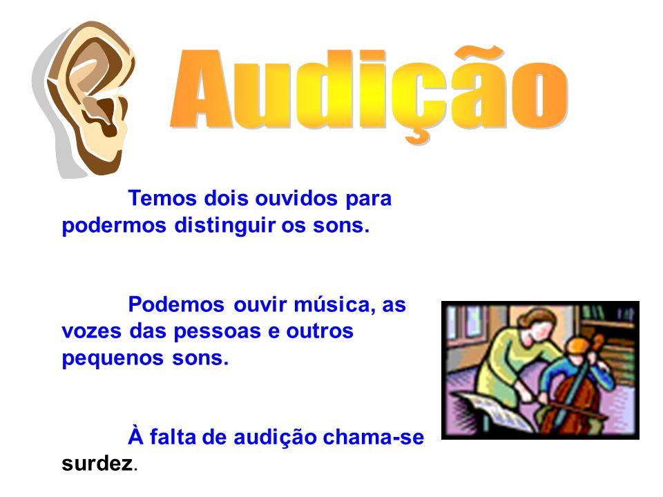 Temos dois ouvidos para podermos distinguir os sons.