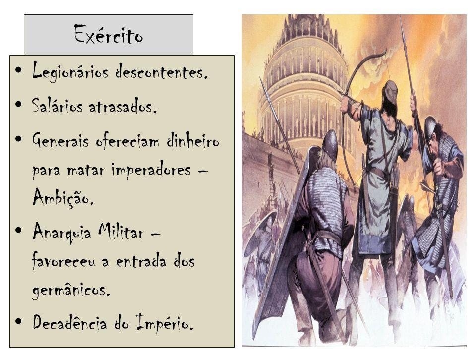O fim do Império romano  Imperador Diocleciano Tentou combater os bárbaros.