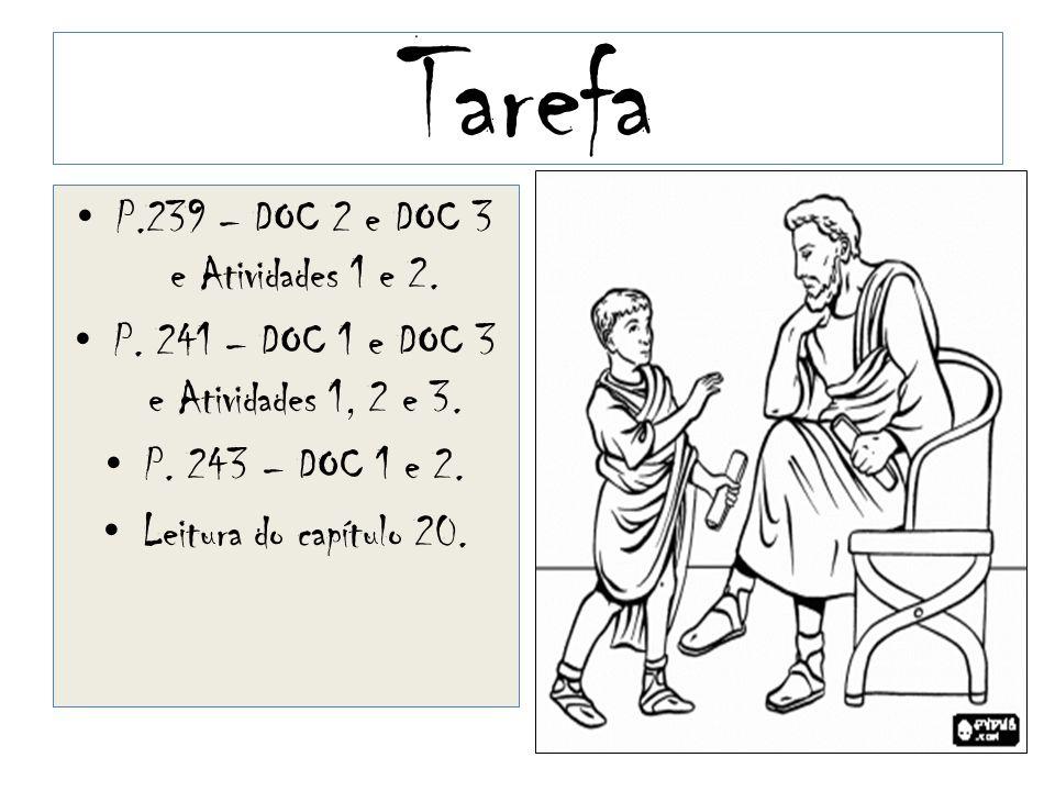 Tarefa P.239 – DOC 2 e DOC 3 e Atividades 1 e 2.P.