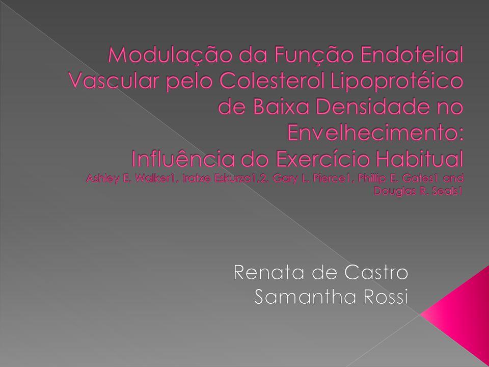  O envelhecimento está associado, em parte, com a reduzida dilatação do endotélio dependente (EDD) e risco aumentado para doenças cardiovasculares (CVD).