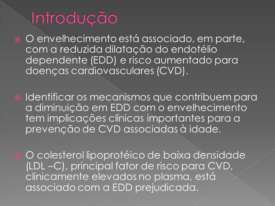  Objetivo 1: determinar se a LDL-C circulante dentro da faixa normal modula a EDD na saúde de homens idosos sadios sedentários.
