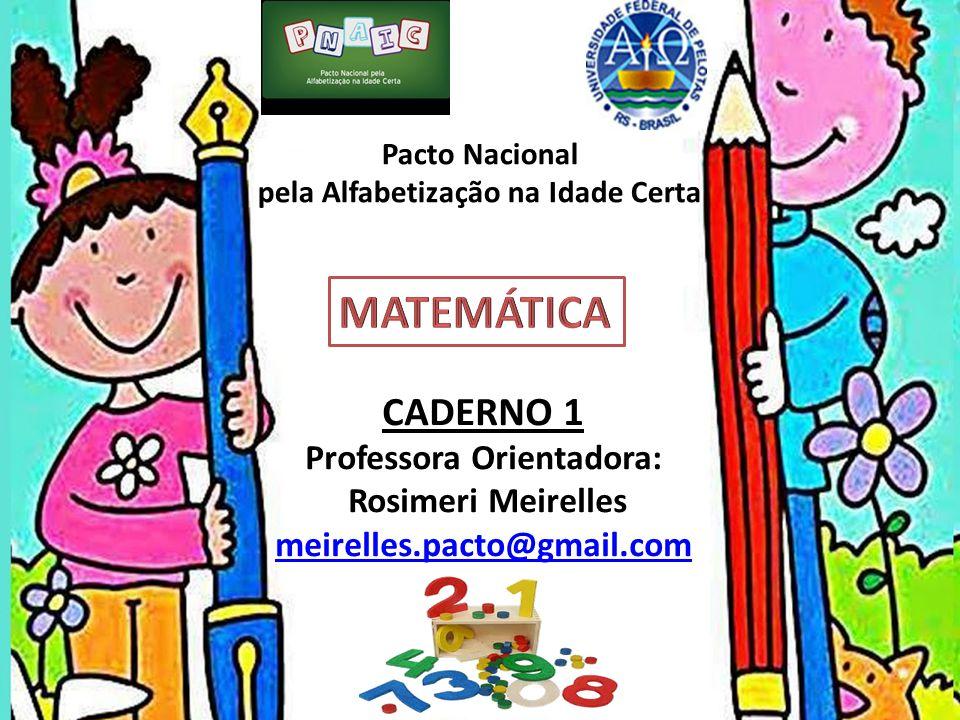 Pacto Nacional pela Alfabetização na Idade Certa CADERNO 1 Professora Orientadora: Rosimeri Meirelles meirelles.pacto@gmail.com