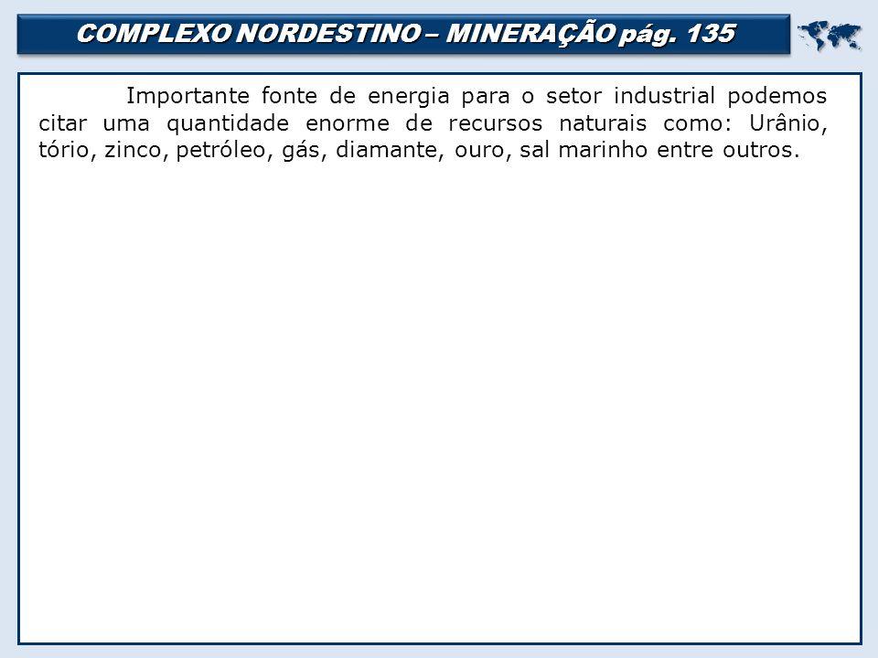 COMPLEXO NORDESTINO – MINERAÇÃO pág.