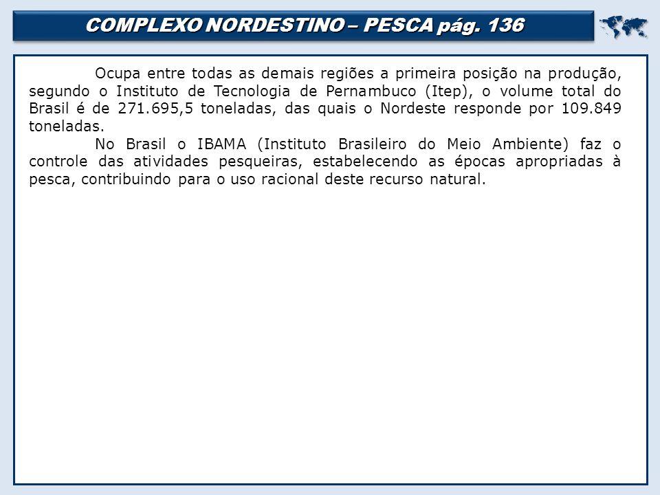 COMPLEXO NORDESTINO – PESCA pág.