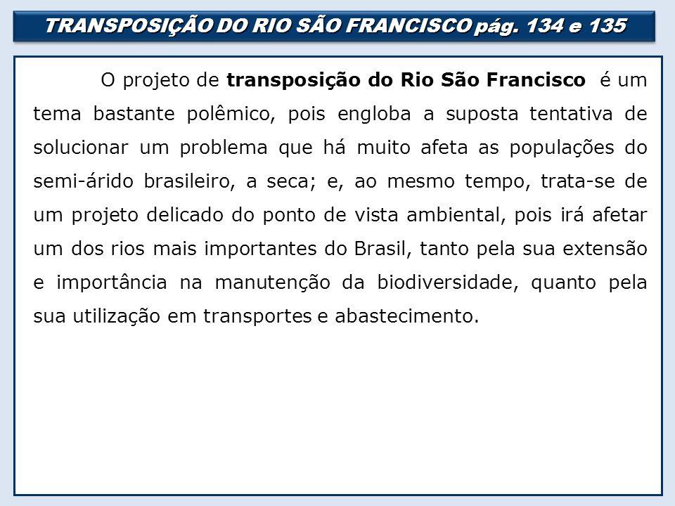TRANSPOSIÇÃO DO RIO SÃO FRANCISCO pág.