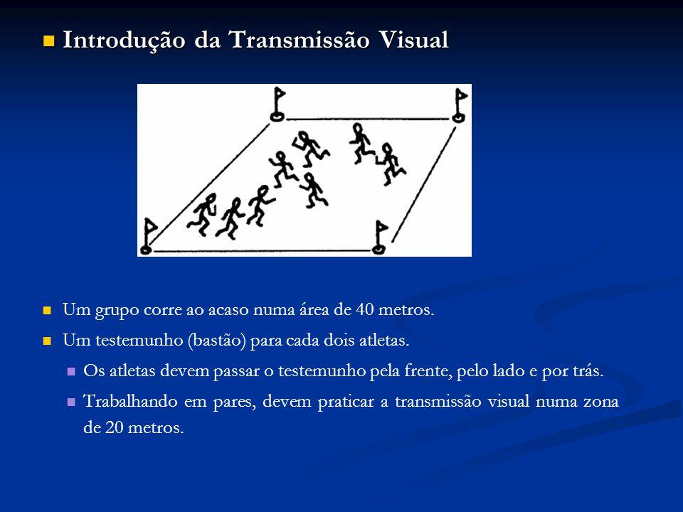 Introdução da Transmissão Visual Introdução da Transmissão Visual Um grupo corre ao acaso numa área de 40 metros.