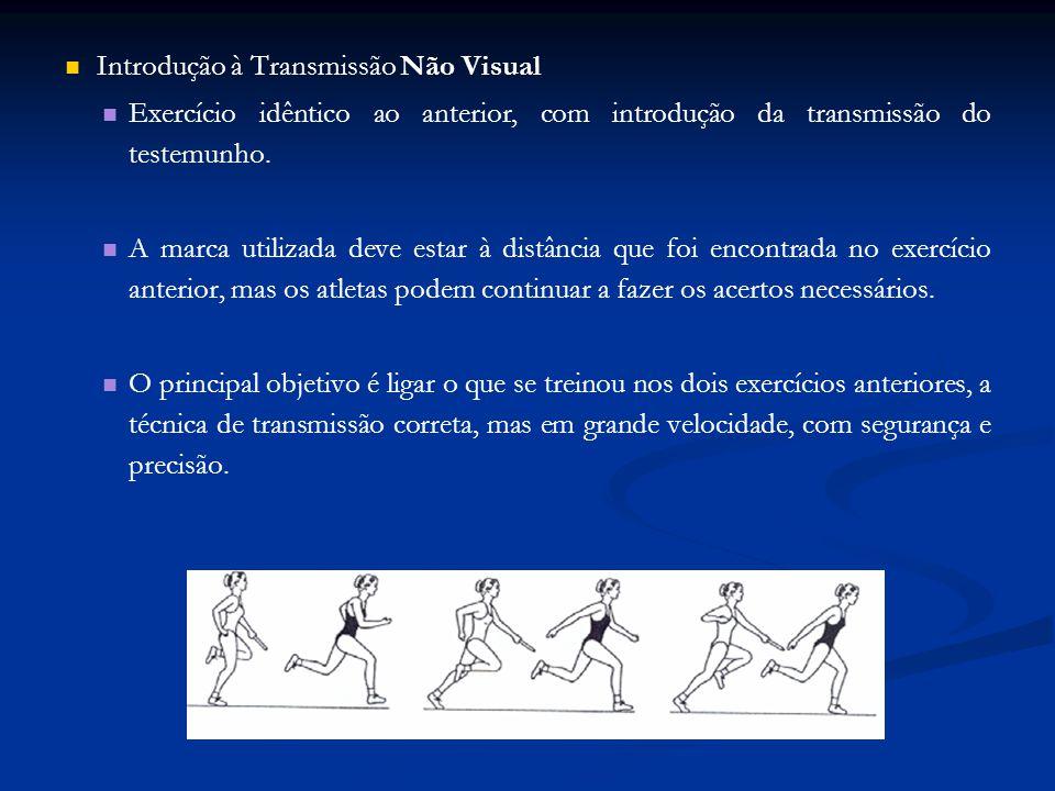 Introdução à Transmissão Não Visual Exercício idêntico ao anterior, com introdução da transmissão do testemunho.