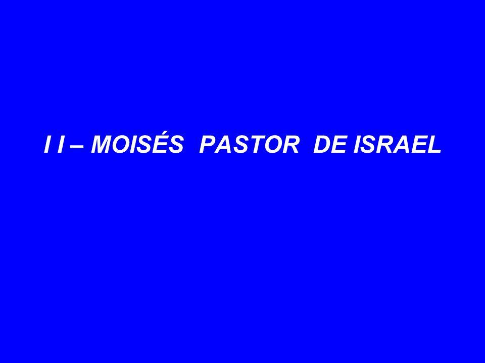I I – MOISÉS PASTOR DE ISRAEL