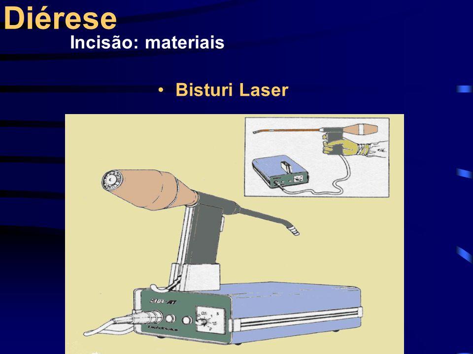 Diérese Incisão: materiais Bisturi Laser