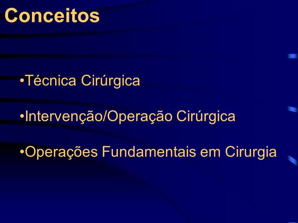Técnica Cirúrgica Intervenção/Operação Cirúrgica Operações Fundamentais em Cirurgia Conceitos