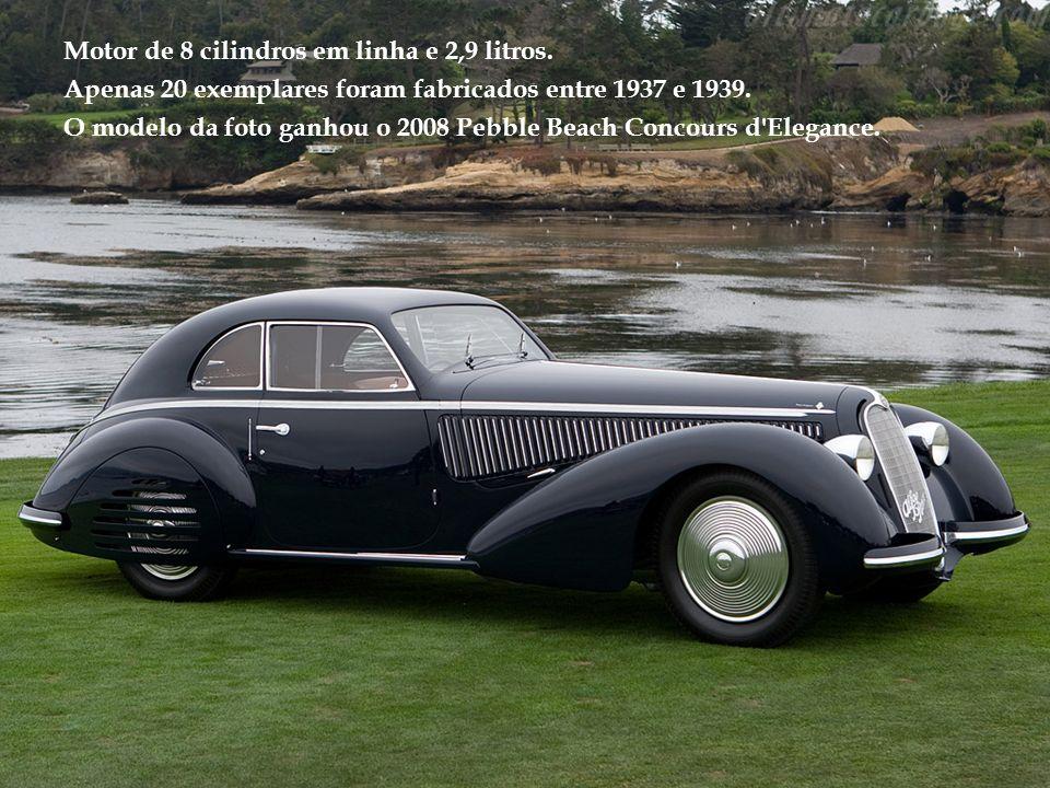 Motor de 6 cilindros em linha e 7,1 litros.Exemplar único, construído em 1931.