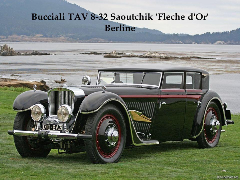 Motor de 8 cilindros em linha e 2,9 litros. Apenas 20 exemplares foram fabricados entre 1937 e 1939. O modelo da foto ganhou o 2008 Pebble Beach Conco