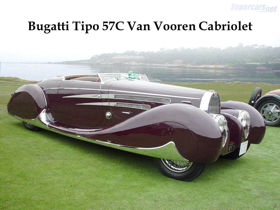 Motor V12 de 4,9 litros. Exemplar único, construído em 1931. Um dos primeiros carros com tração nas rodas dianteiras.