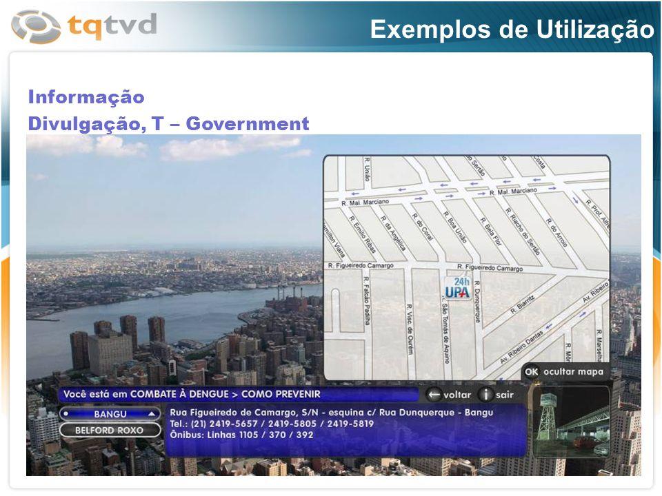 Informação Divulgação, T – Government Exemplos de Utilização