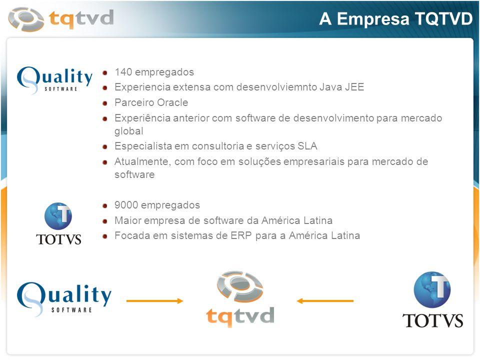 140 empregados Experiencia extensa com desenvolviemnto Java JEE Parceiro Oracle Experiência anterior com software de desenvolvimento para mercado glob