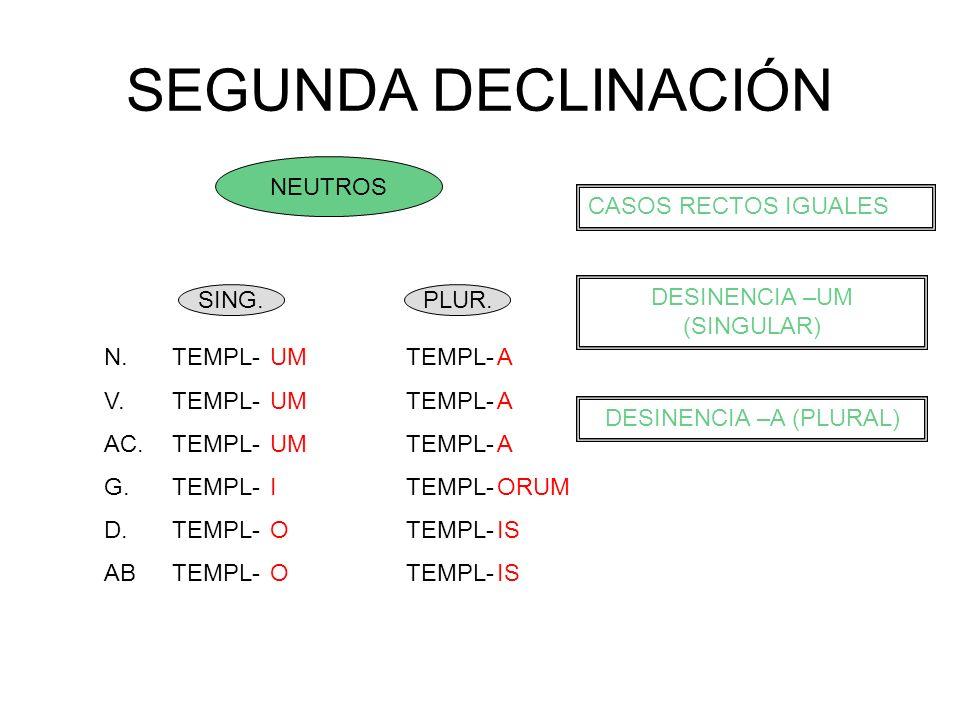 SEGUNDA DECLINACIÓN CASO ESPECIAL -ER / -IR SIN DESINENCIAS EN NOMINATIVO Y VOCATIVO N.