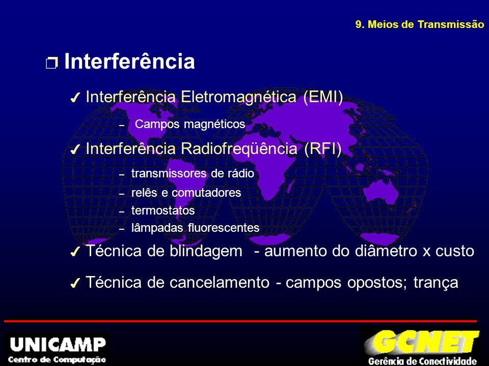 p Cabo AUI u Cabo de ligação de dispositivos a rede u Comprimento máximo cabo AUI: 50m u Comprimento máximo office AUI: 16,5m DB15 fêmea DB15 macho 9.