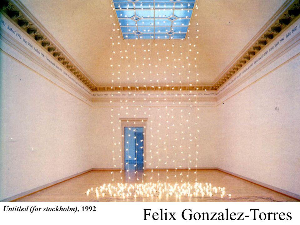 Untitled (for stockholm), 1992 Felix Gonzalez-Torres